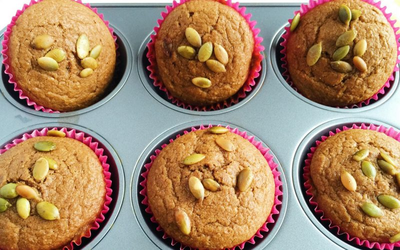 Coconut Oil Pumpkin Muffins (Naturally Sweetened & Dairy-Free
