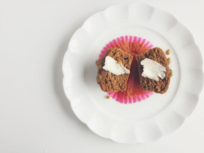 coconut oil pumpkin muffin