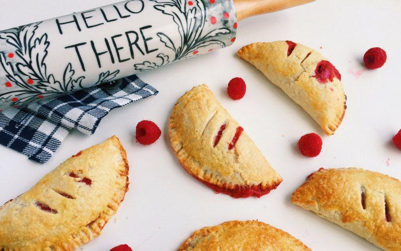 red berry rhubarb hand pie