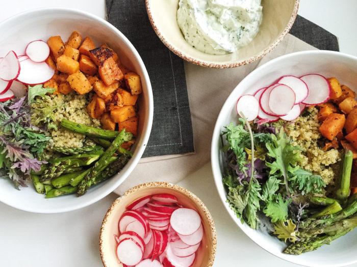 quinoa sweet potato bowls