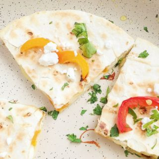 Roasted Vegetable Goat Cheese Quesadillas