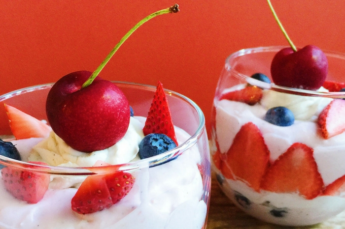 Dairy-Free Strawberry Vanilla Mousse Parfaits