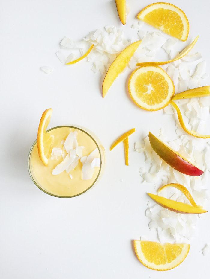 Coconut Orange Mango Smoothie