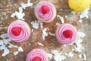 vegan lemon coconut cupcakes