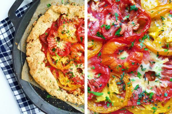 heirloom tomato crostata