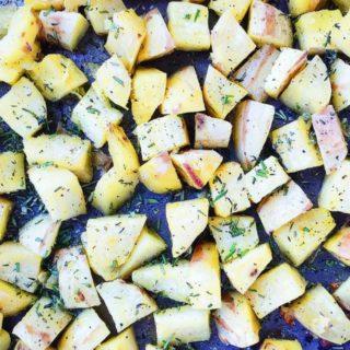 Herb + Ghee Roasted Sweet Potatoes