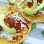 Grilled Fish Tostadas with Cilantro-Lime Crema