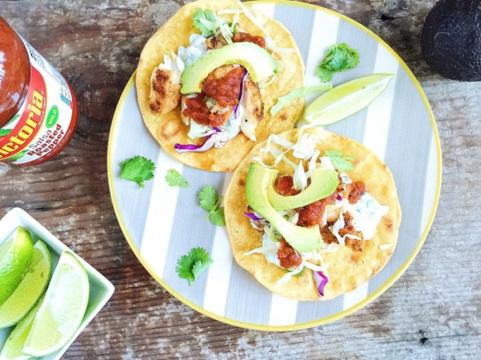 Grilled Fish Tostadas With Cilantro Lime Crema Parsnips And Pastries