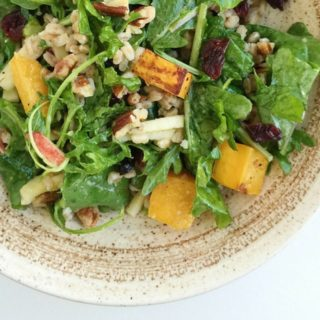 Harvest Farro Salad with Kale + Butternut Squash