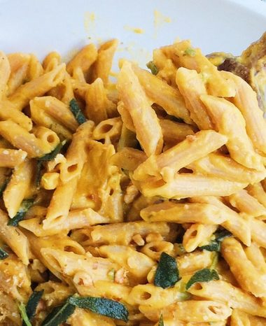 Butternut Squash Penne with Chicken + Fried Sage