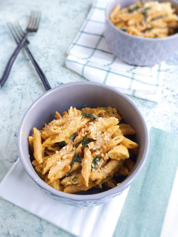butternut squash penne with chicken