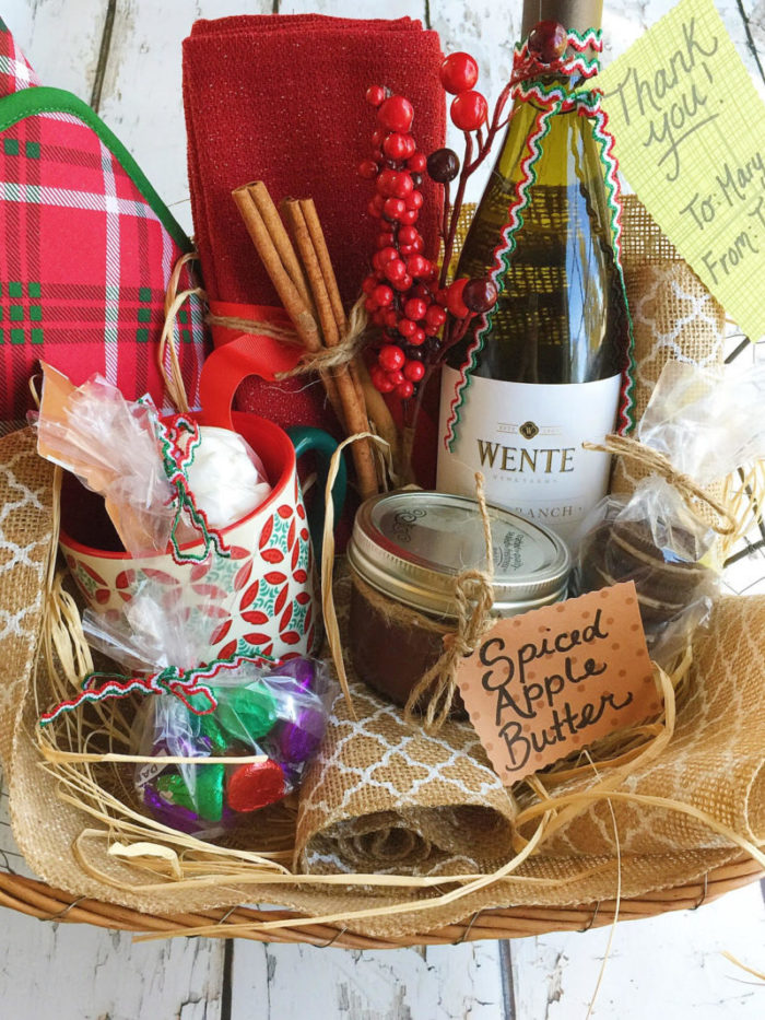 diy holiday gift basket for foodies