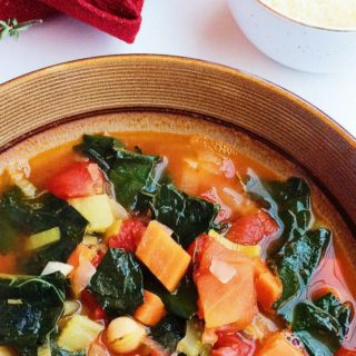 Hearty Kale, Tomato, and White Bean Soup
