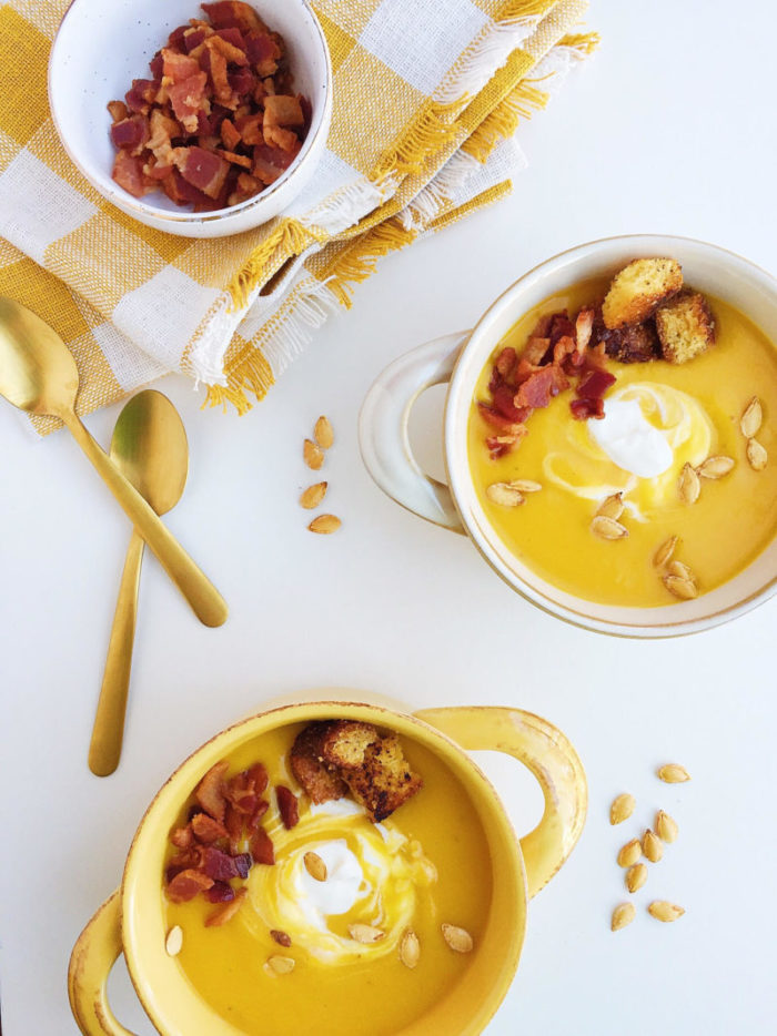 Butternut Squash Apple Soup is sure to impress your guests