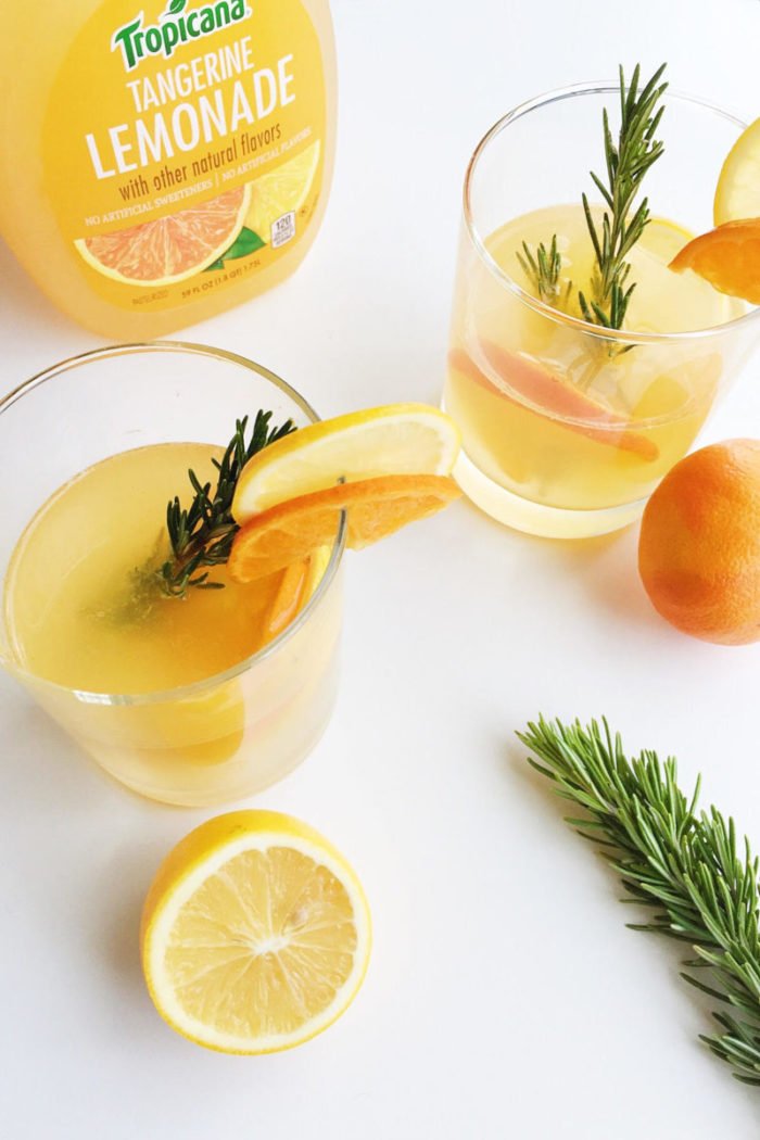 rosemary citrus gin and tonic