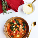 kale, tomato, and white bean soup