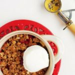 apple cranberry granola crisp