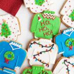 ugly christmas sweater cookies