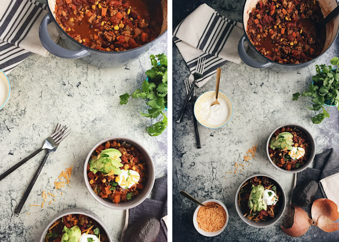 healthy turkey and bean chili
