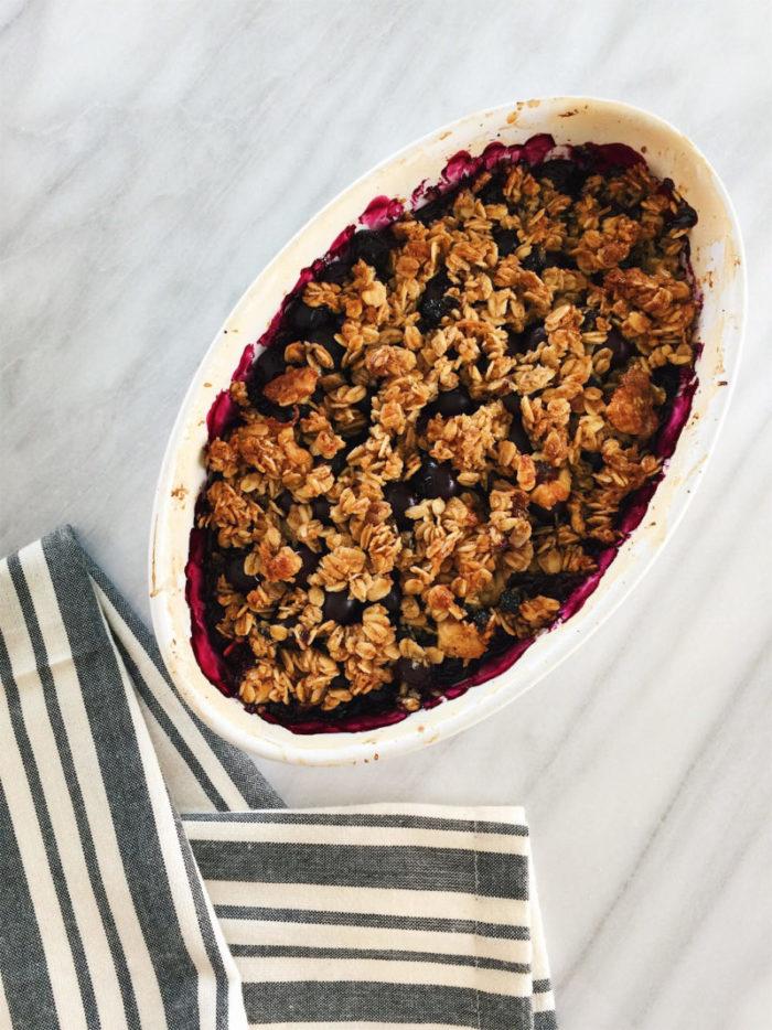 gluten'free blueberry crisp
