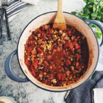 healthy turkey and bean chili