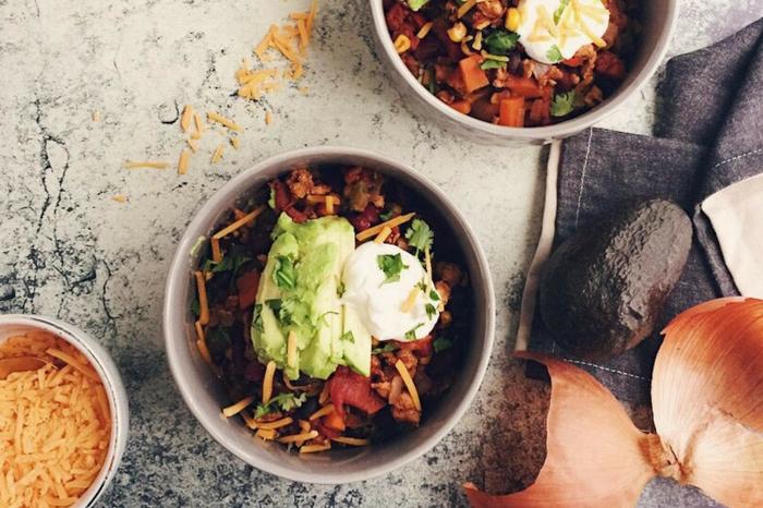 hearty healthy turkey chili