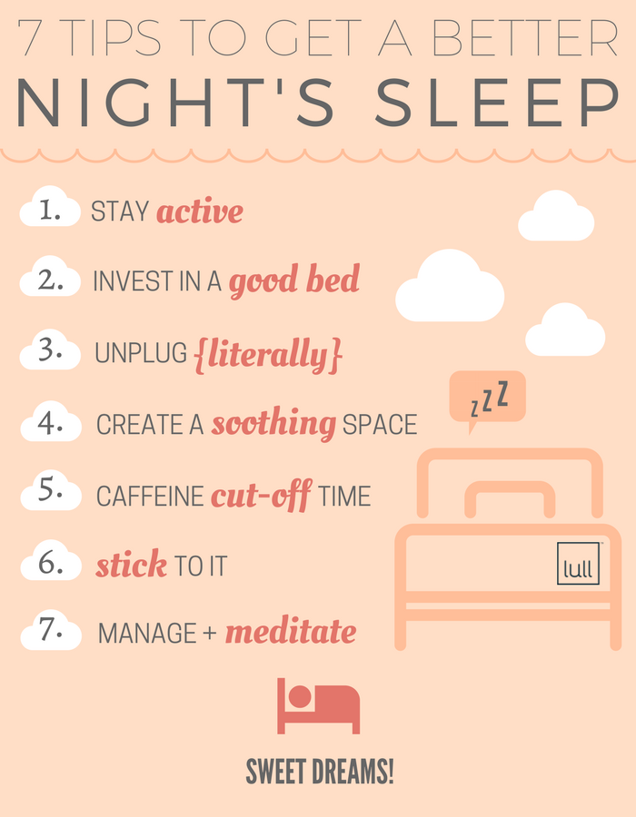 tips to get a better night's sleep