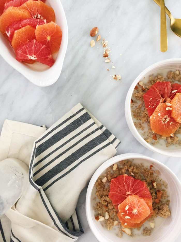 vegan quinoa porridge