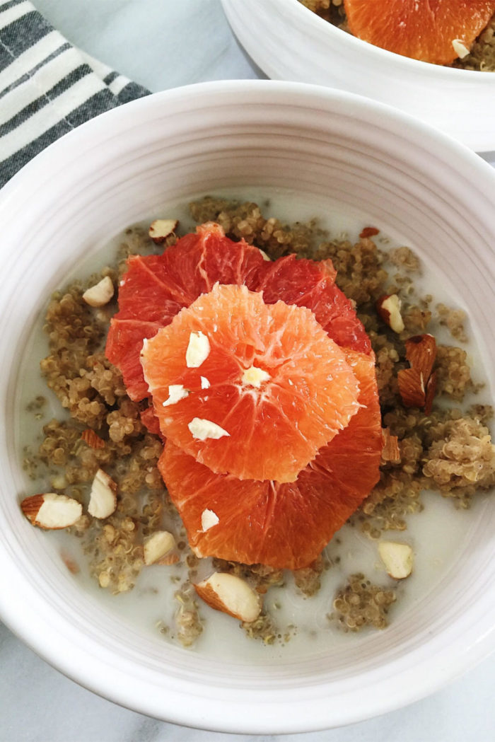 vegan quinoa porridge