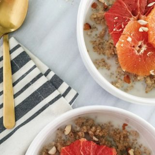 Vegan Quinoa Porridge with Roasted Citrus