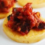 SEARED POLENTA ROUNDS WITH RATATOUILLE