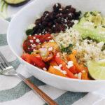 vegan black bean fajita bowls