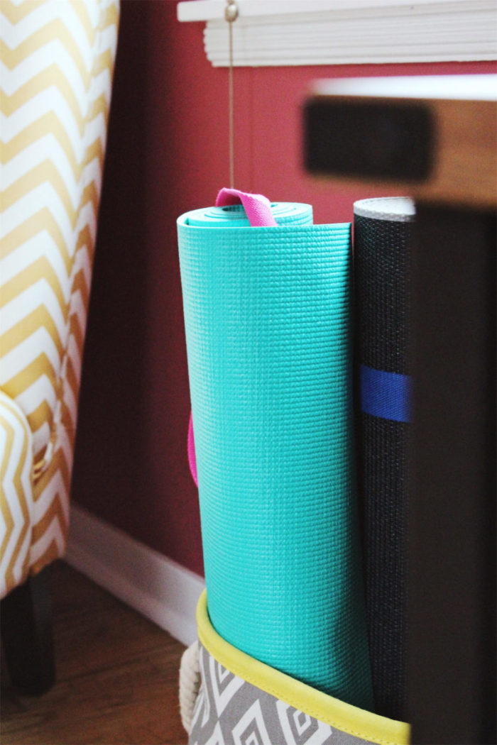 how to create a yoga space in your home