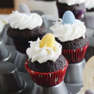 Chocolate Coconut Easy Easter Bunny Cupcakes {+ Video!}
