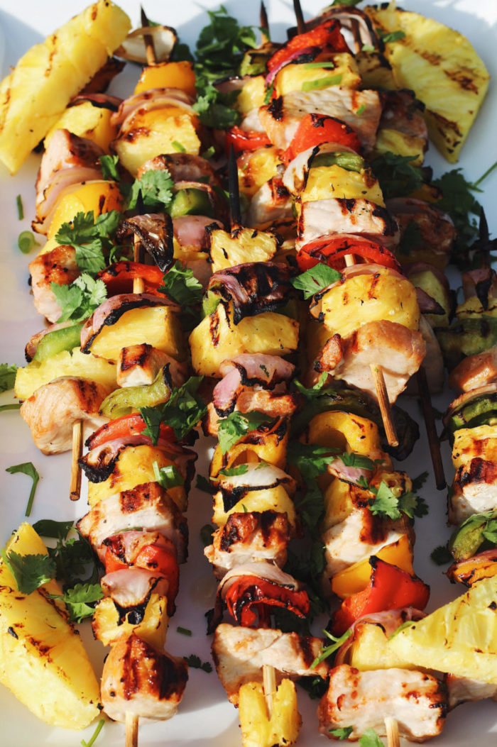 pineapple pork kabobs
