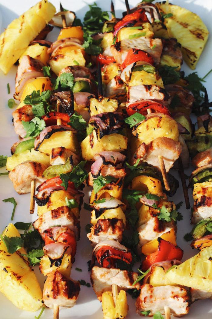 pineapple pork kabobs