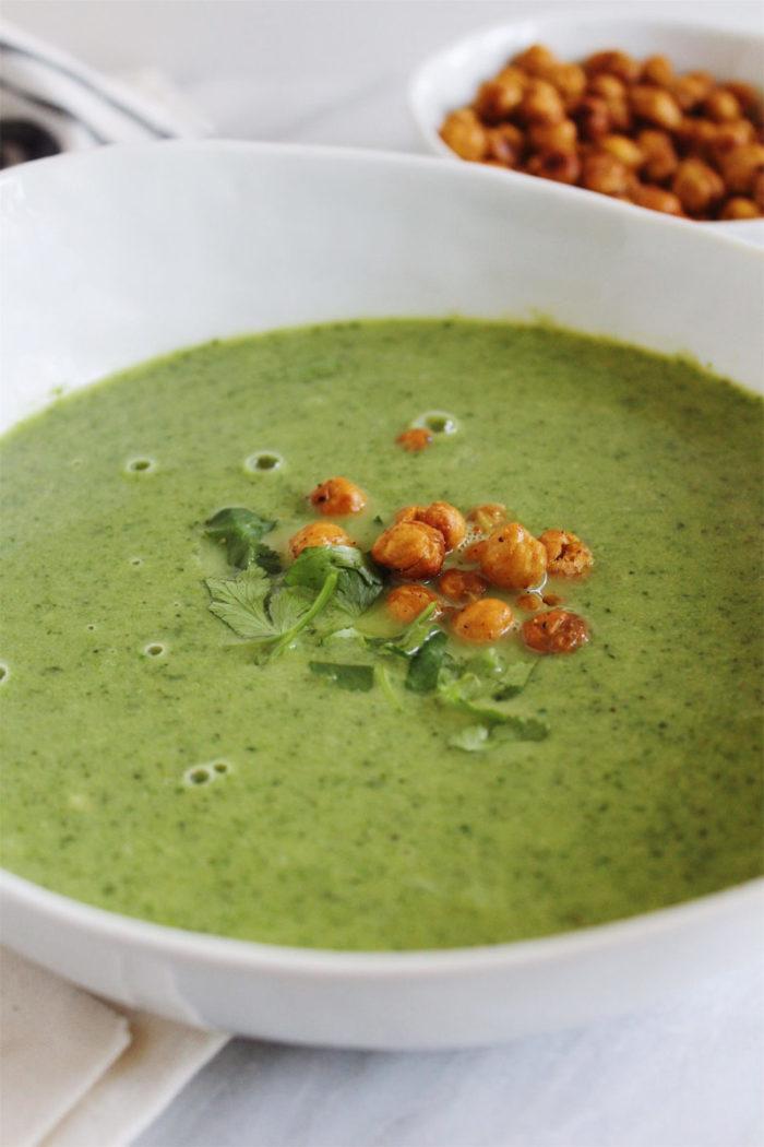 vegan broccoli kale soup