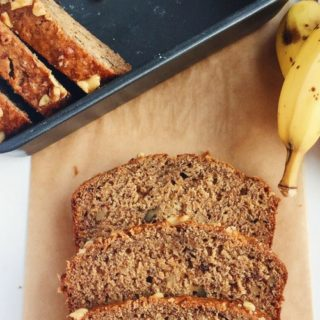 Honey, Walnut and Flax Banana Bread [dairy-free]