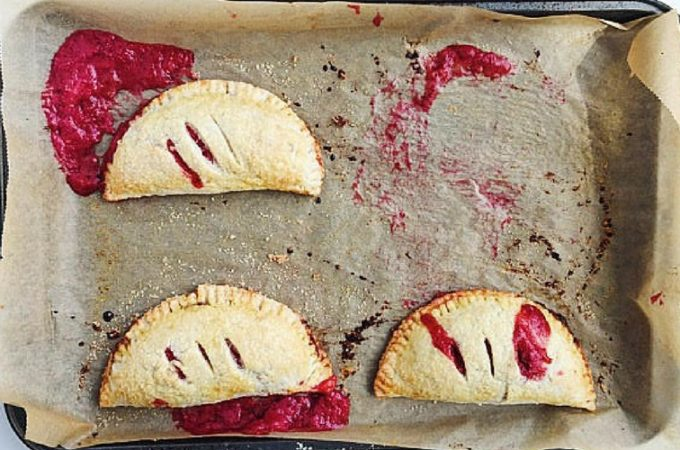 Red Berry Rhubarb Hand Pies