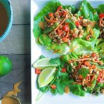 Thai Turkey Lettuce Wraps with Peanut Sauce