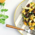 mango, grilled corn and black bean salad