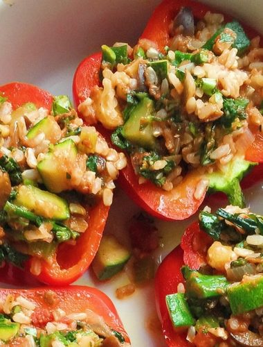 vegan italian stuffed peppers