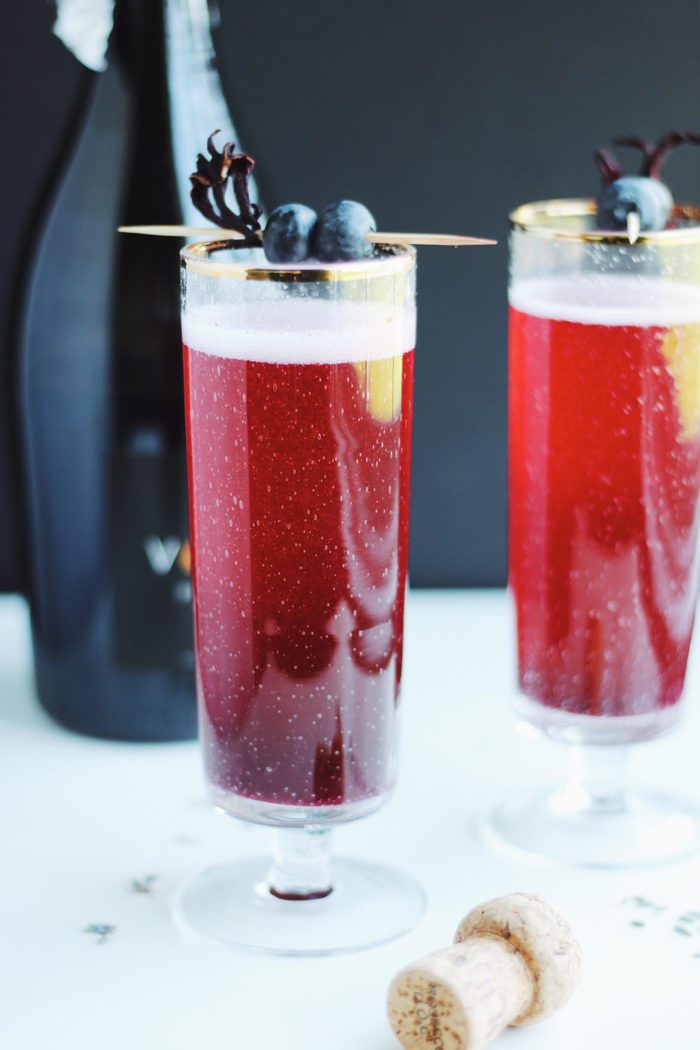 Blueberry Lavender Prosecco Mimosas