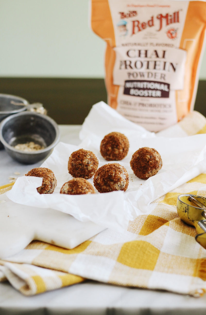 chai spiced energy bites