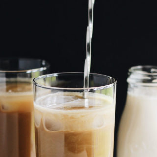 Caramelized Honey Almond Cold Brew Latte