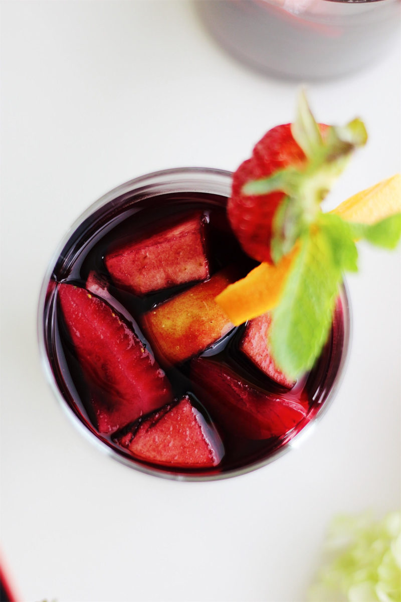 Pomegranate Mint Sangria