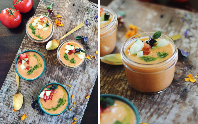 bone broth gazpacho