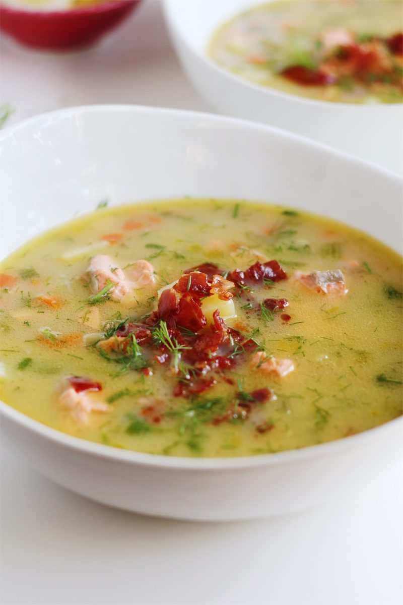 Whole30 Salmon Chowder