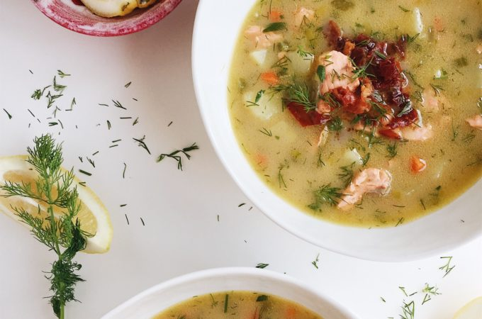30 Minute Whole30 Salmon Chowder