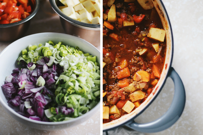 Whole30 Sweet Potato Beef Chili
